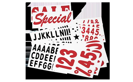 White Deluxe Letter Kits