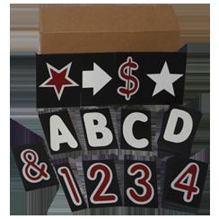 """Black 4"""" Letter Kits"""